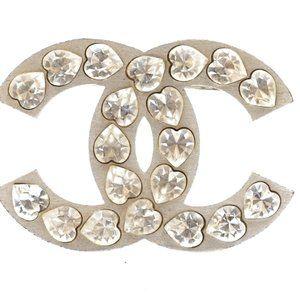 Cc Heart Crystals Hardware Brooch Pin Charm